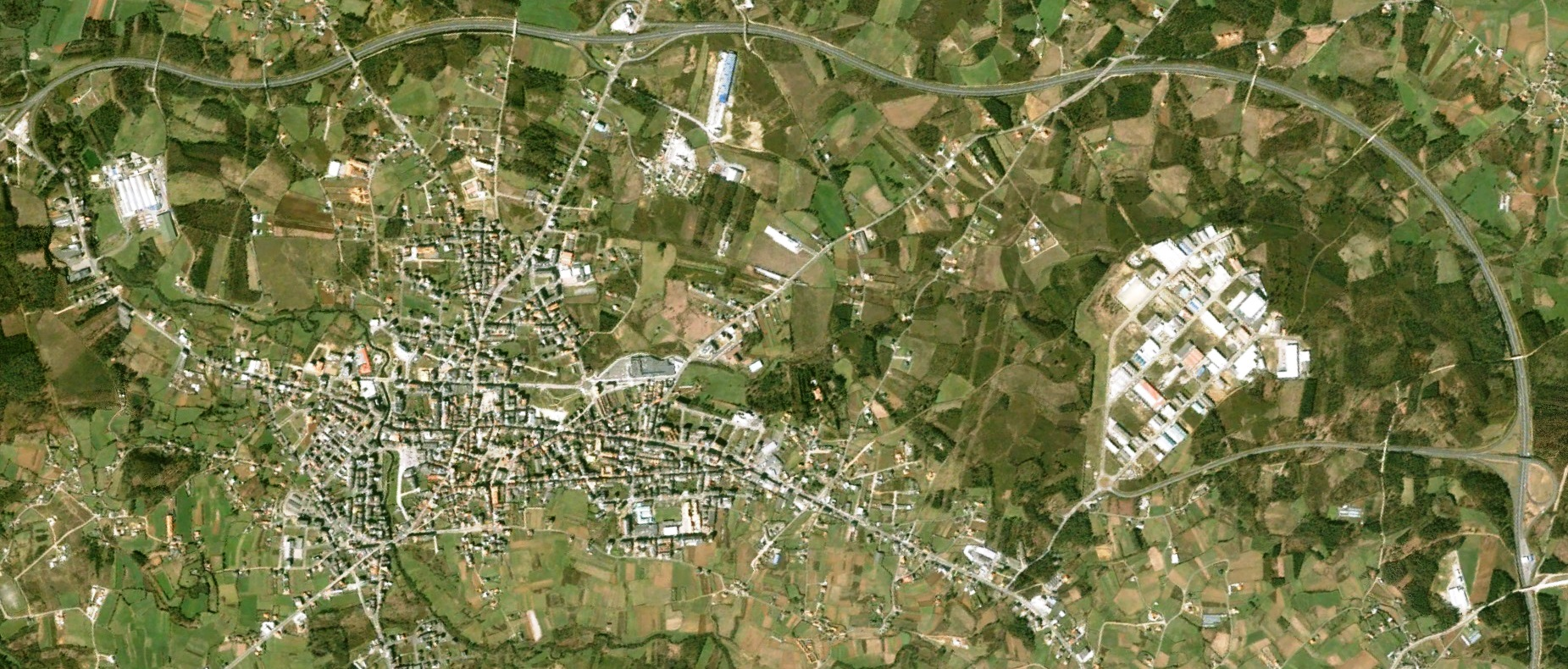 antes, urbanismo, foto aérea, desastre, urbanístico, planeamiento, urbano, construcción, polígono industrial,Carballo, A Coruña