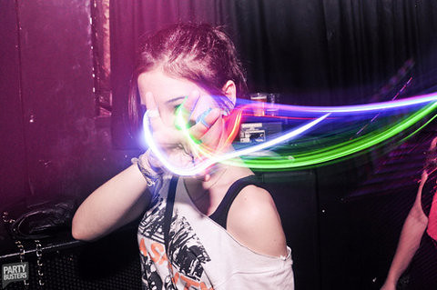 Neon Party Girl. Source unknown.