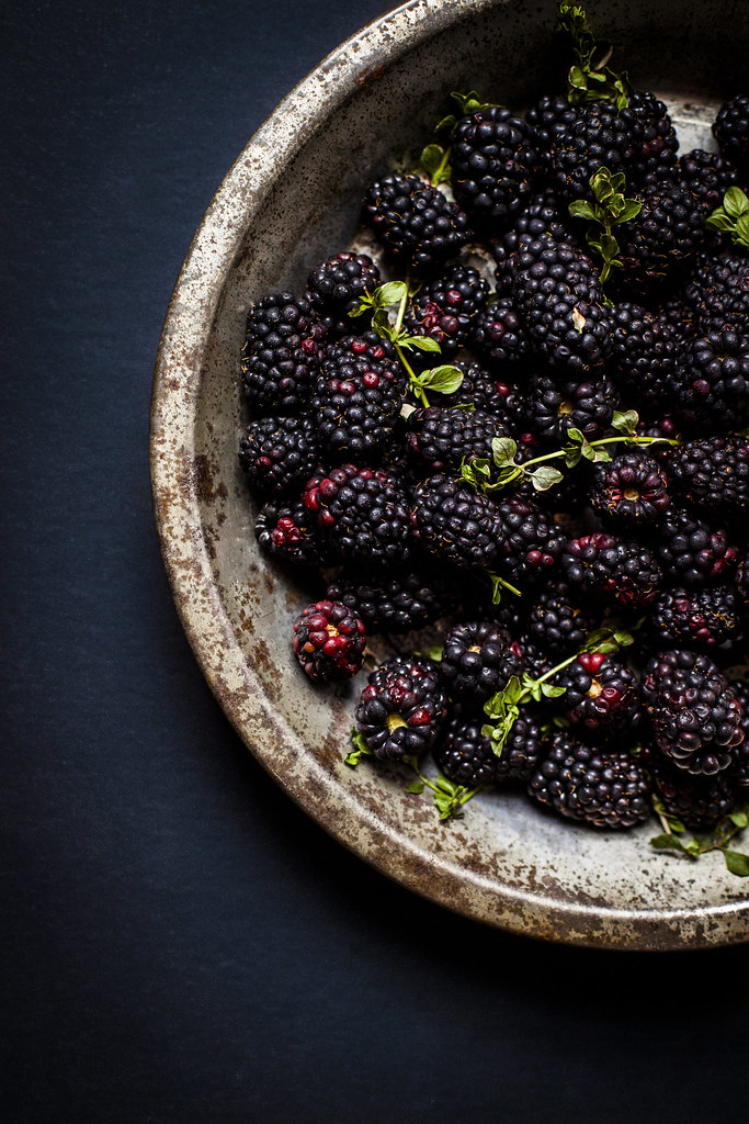 blackberries + thyme