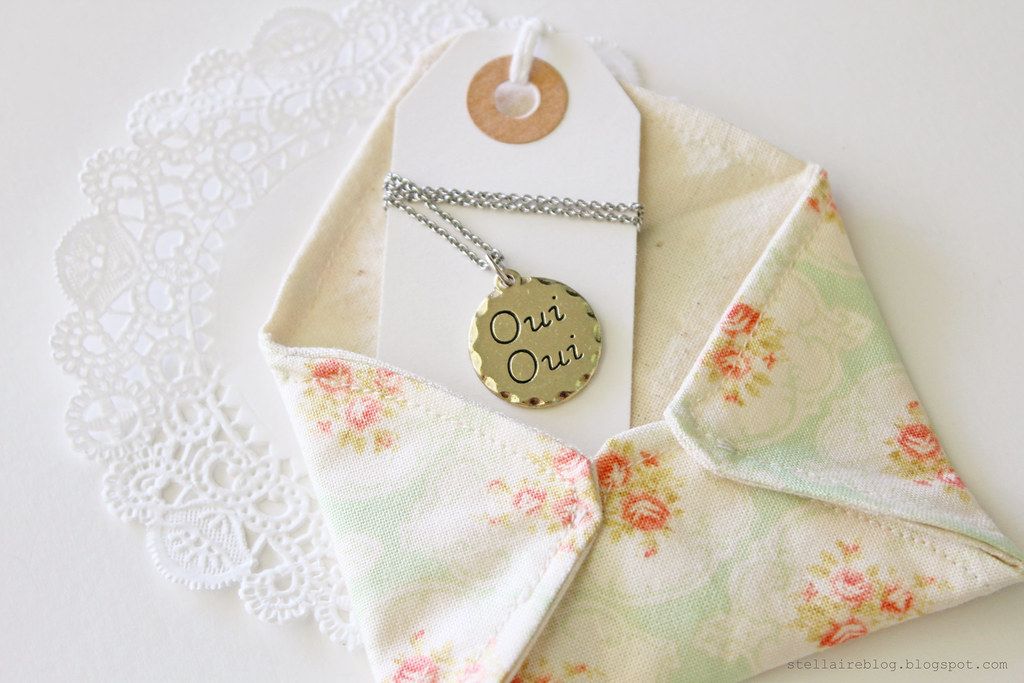 necklace in envelope