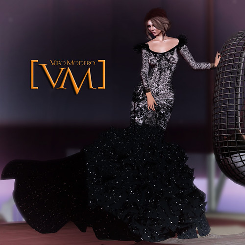 [VM] VERO MODERO  Black Pearl Gown