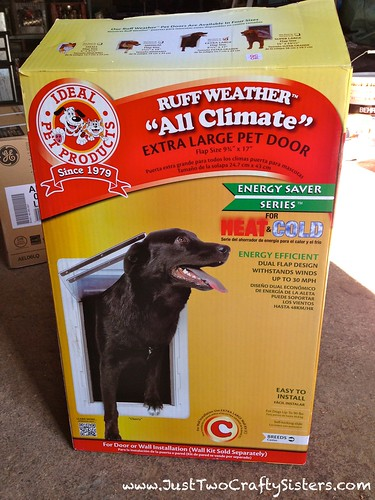 All weather dog door for our dog house