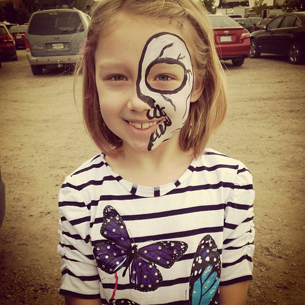 "she asked for a skull. ""not a butterfly!"""