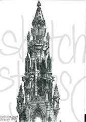 Edinburgh Sketch by stetchystyles.com