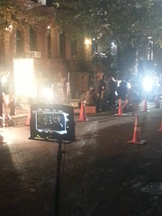 They are filming 'Elementary' down our block tonight