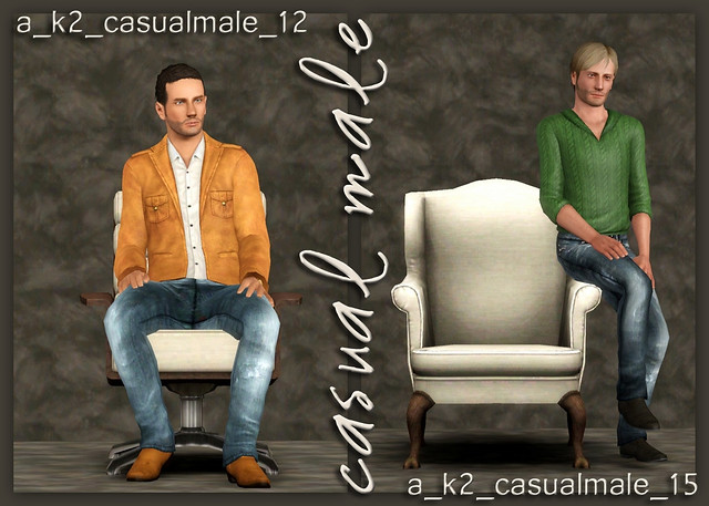 Casual Male - Poses 12 and 15