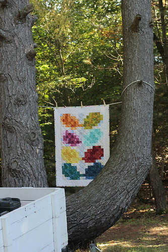 Pixelated Vine Quilt - b