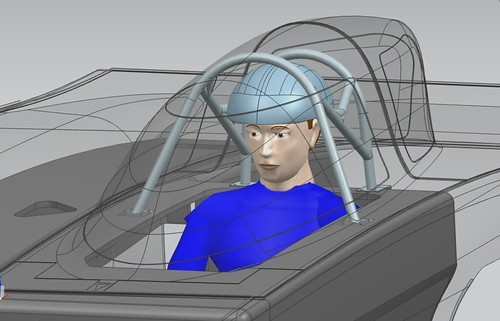 university of michigan generation solar car roll cage designed in NX