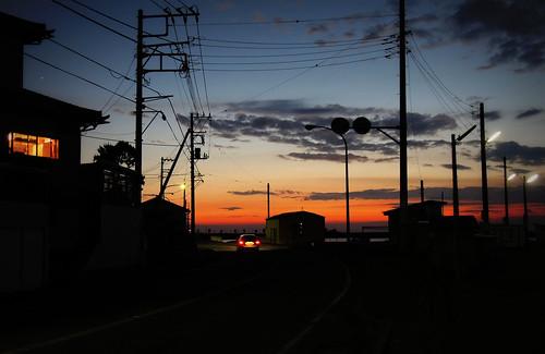 sunset japan nikon kanagawa misaki miuracity p7700