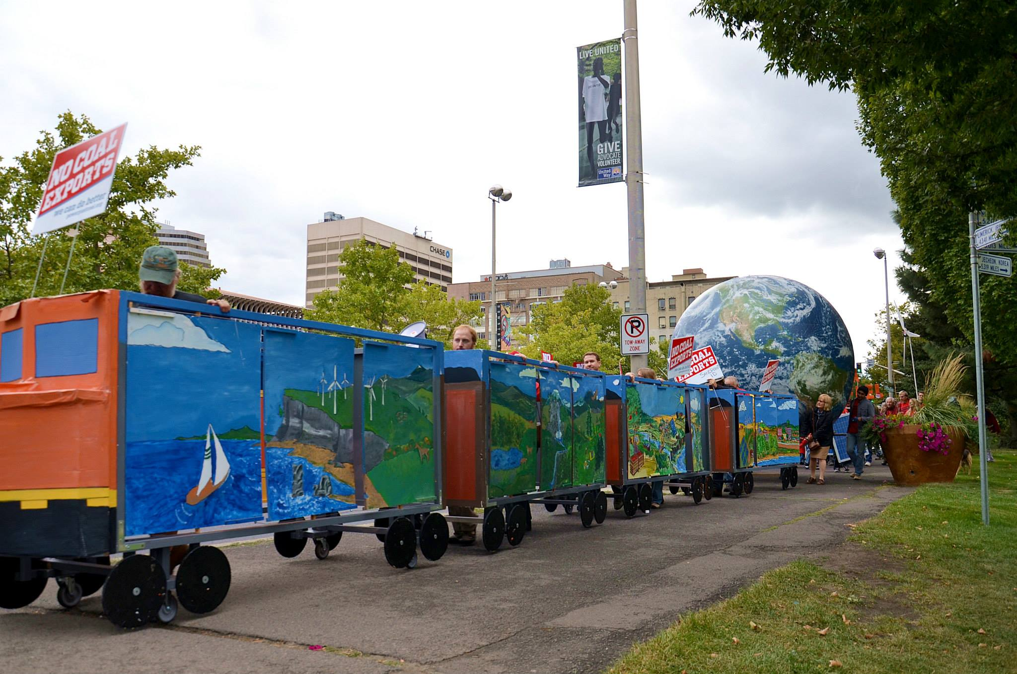 Spokane Coal Train Transformed Into Ecotopia By Activists at Coal Export Hearing