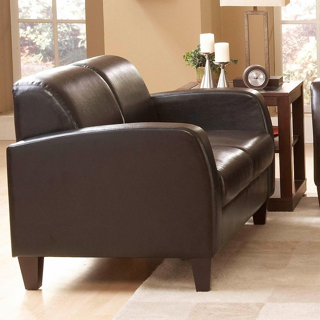 Homelegance Faux Leather Contemporary Brown Review