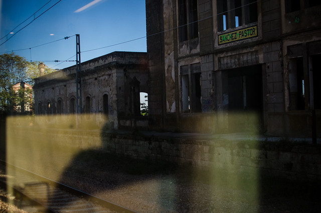 An abandoned train station on the way to Cordoba, Spain.