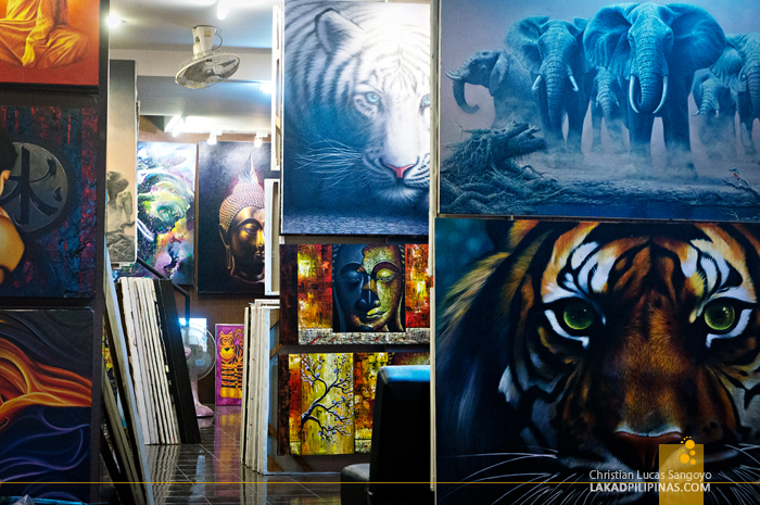 Canvas Painting Souvenirs from Phuket, Thailand