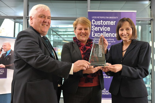 Customer Service Excellence plaque presentation