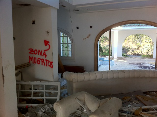 Murder zone. Former Mayor of Marbella's not so luxury now villa...