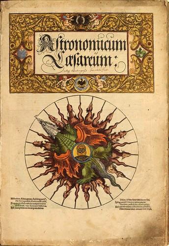 001-Pagina del titulo-Astronomicum Caesareum-1540- Petrus Apianus -Staatsblibliothek Bamberg