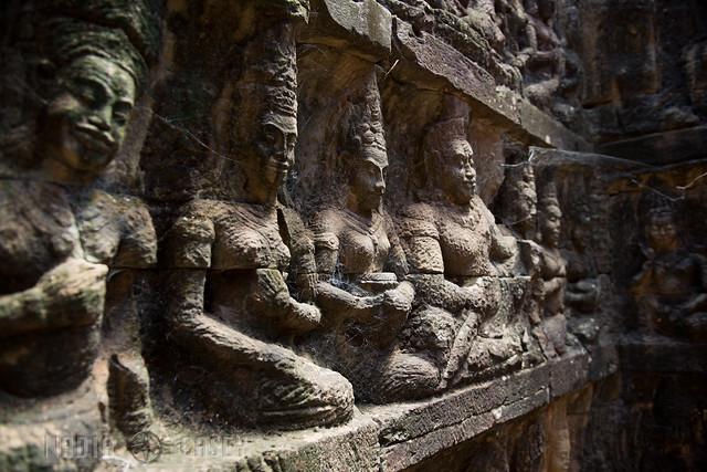 Angkor Thom Wall Statues