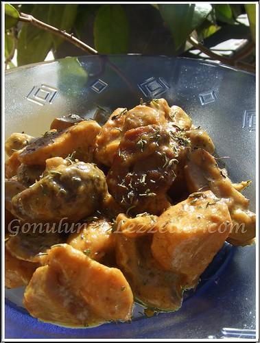 kremalı , mantarlı tavuk 2