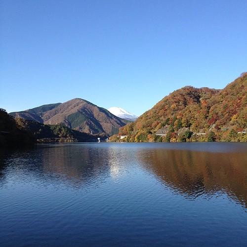 丹沢湖なう。自転車じゃないです(^^;;
