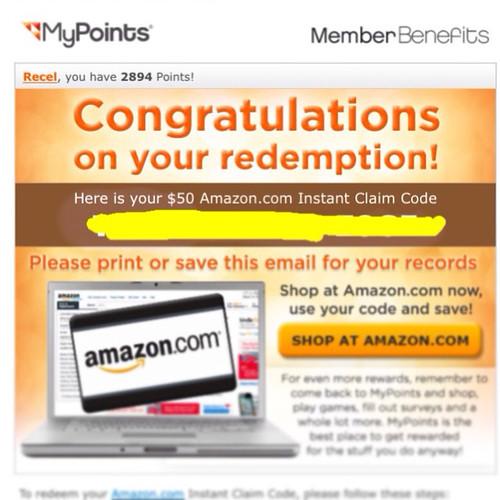 Mypoints rewards