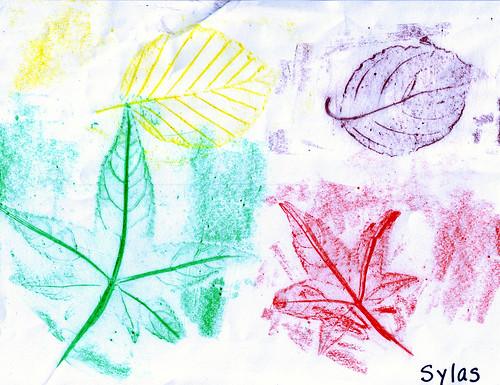 Sy-Leaf Rubbings