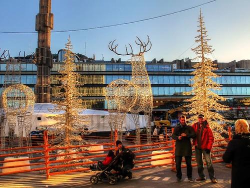 Sergelstorg on a Sunday during December, Stockholm, Sweden by sawelli
