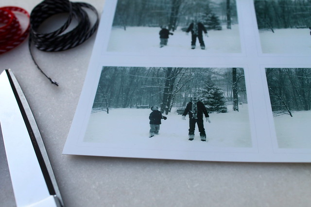 DIY: Gift tags using old photos