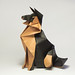 GERMAN SHEPHERD by Origami Roman