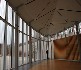 The new Visitors Center at the Brooklyn Botanic Gardens