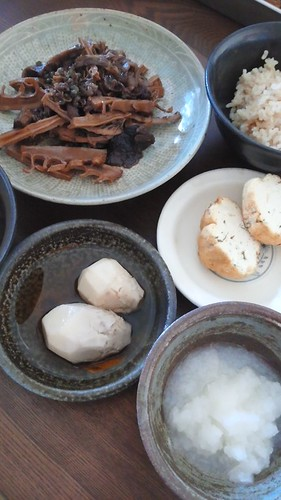 干し筍と干ししいたけと牛肉の煮物 by nekotano