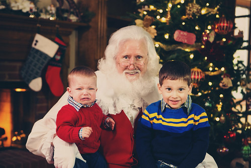 Reed, Santa and Bennett by bump