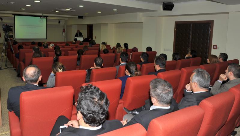 Rektör Tarhan, TİKA'da Kurum Kültürü ve İşyeri Stresi konferans verdi