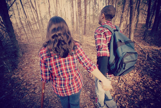 Best Place to hold hands is at Smith Mountain Lake State Park on the Turtle Island Trail