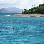 Snorkelers on break