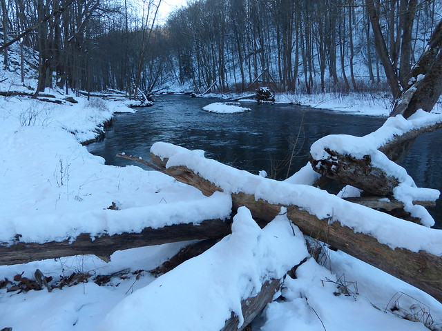 Masemore Rd Downstream Gunpowder River in Snow
