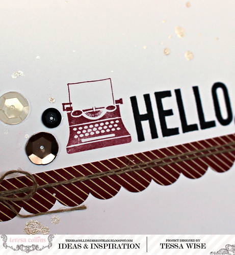 Stamped Hello Card 3