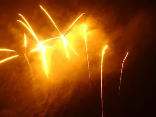 Feuerwerk Plötzlich ein Erschrecken
