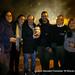 2014-01-16 Hoguera San Anton el Mostrenco, los vecinos y los compañeros de las plataformas de defensa de la sanidad.