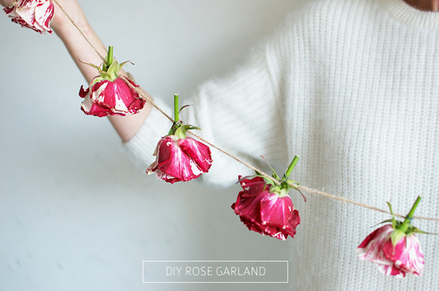 A Pair and a Spare shows you how to make a rose garland