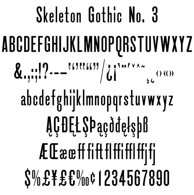 Skeleton Gothic No. 3