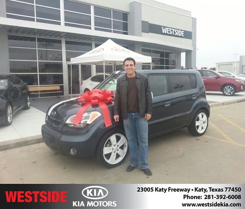Thank you to Vassilios Yannimaras on your new 2010 #Kia #Soul from Alexander Boykin and everyone at Westside Kia! #NewCar by Westside KIA