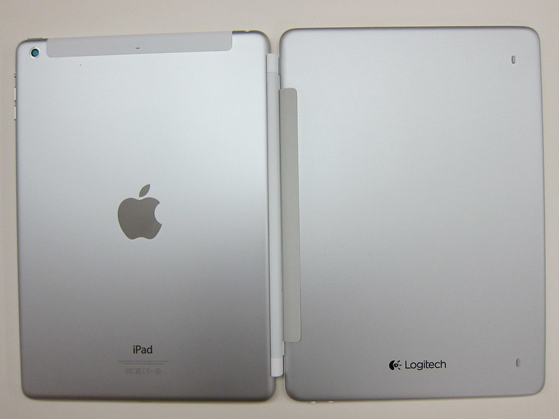 Ultrathin Keyboard Cover - Attached To iPad Air (Back)