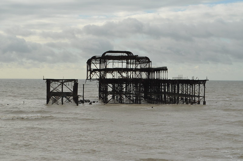 West Pier, Brighton. Missing some more sections following the recent storm.