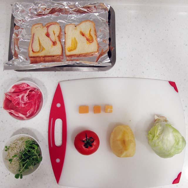 冬天減肥不!!!!!!!難!!!!!!!!!!跟著我吃減肥三明治餐 健康的享瘦(三明治製作過程)