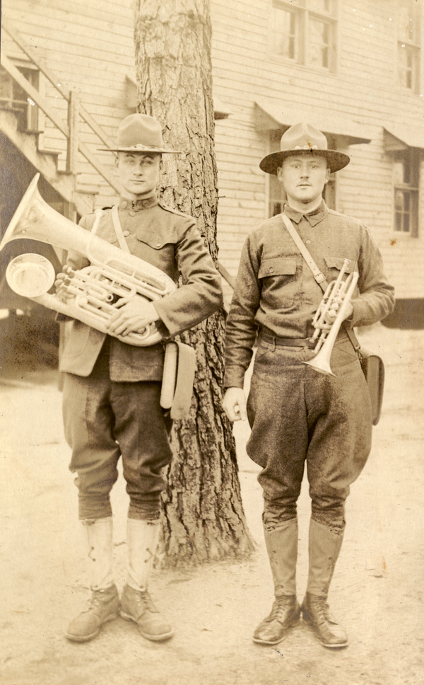 Edward and Julius Koester at Camp Jackson in Columbia, South Carolina