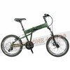 245-000-B-P-001 PARACYCLE 小傘兵前避震折疊單車20吋27速前碟軍綠色-1