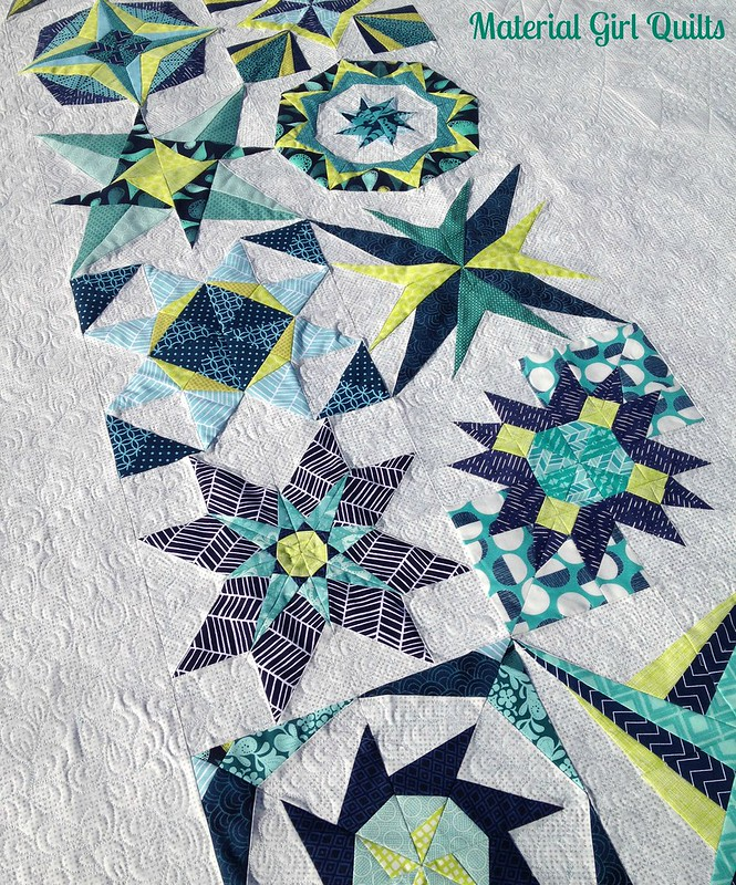 Lucky Stars quilting detail