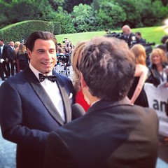 He's the one that I want. Ooh ooh ooh. #JohnTravolta at #amfAR #cannes #film #pulpfiction #backofmyhead #gettycannes #interview