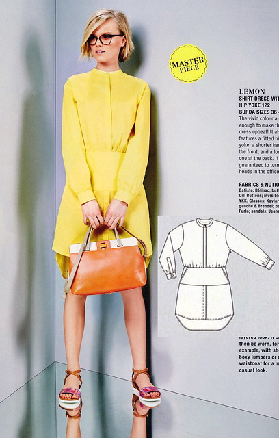 Burda-June-2014_Yellow Shirtdress