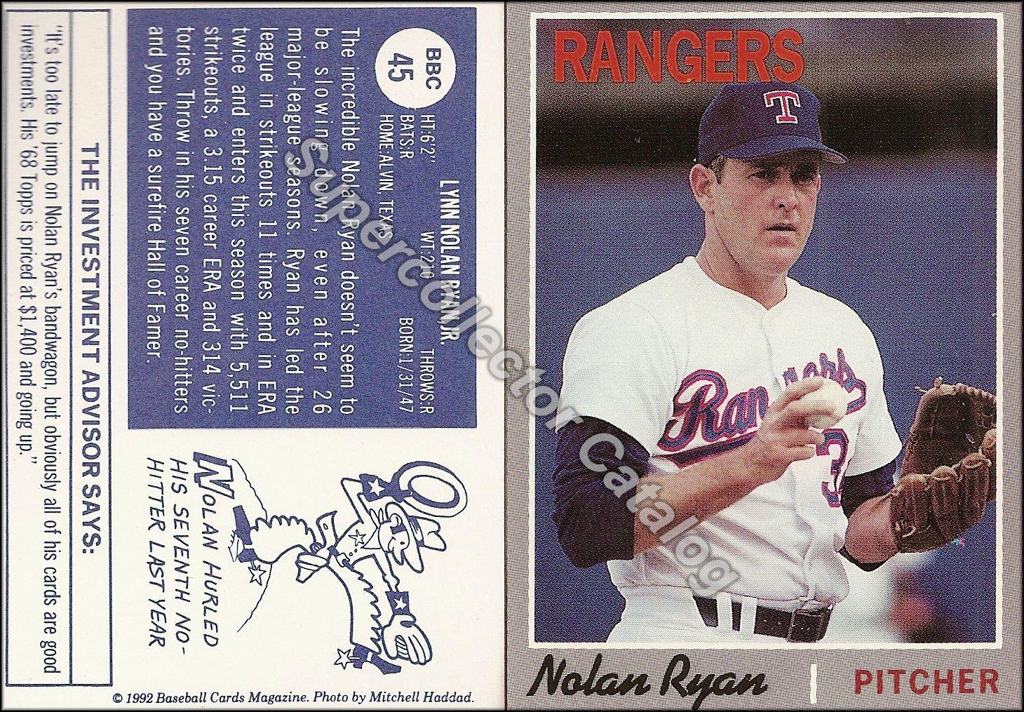 1992 Baseball Card Magazine Insert ('70 Topps)